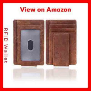 RFID Front Pocket Wallets on Amazon