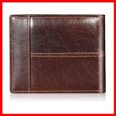 Swallowmall, Genuine Leather Bifold Wallets For Men