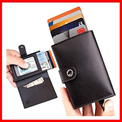 ID Theft Protection Series Premium Genuine Leather Slim Wallet