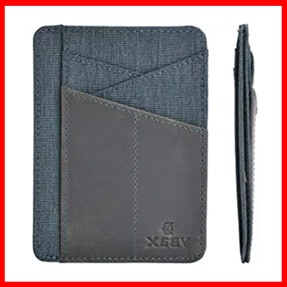 Mens Slim Wallet RFID Leather Minimalist