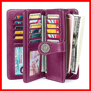 RFID Wallet for Women With Wrist Strap