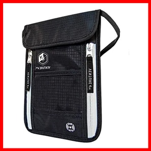Travel Neck Pouch Neck Wallets with RFID Blocking