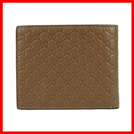 Brown Microguccissima Leather Gucci Mens Wallet