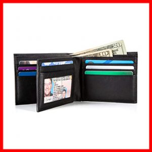 IDENTITY STRONGHOLD RFID Blocking Leather Wallet for Men