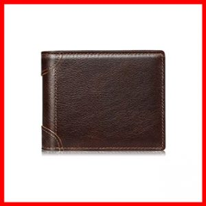 Swallowmall Men's RFID Leather Wallet Slim Bifold Wallets
