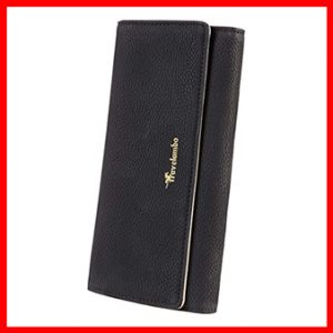 Travelambo Womens Faux Leather RFID Blocking Wallet