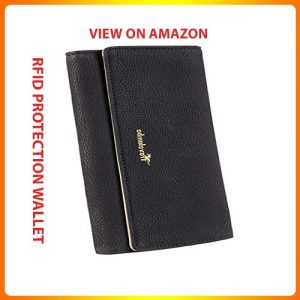Travelambo-Womens-Faux-Leather-RFID-Blocking-Wallet