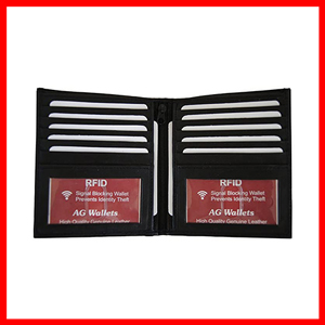 AG MENS WALLETS WITH RFID LEATHER 2 WINDOWS