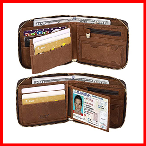 ITS LIFE MEN LEATHER RFID BLOCKING CARD WALLETS FOR MEN