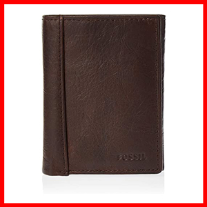 Fossil Mens Leather Trifold Wallet