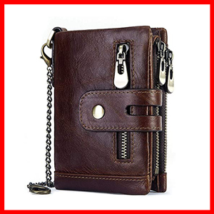 Men's Leather RFID Blocking Trifold Wallets