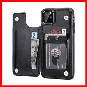 iPhone 11 Pro-Max Wallet Case with Card-Holder